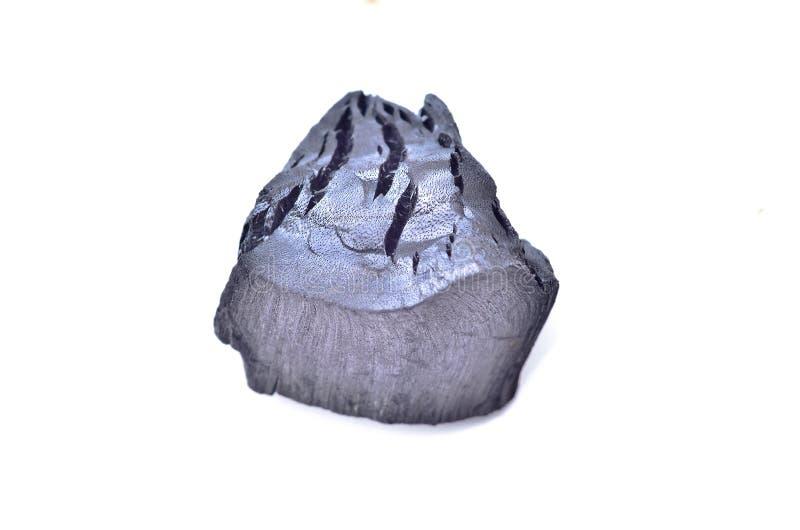 Carvão vegetal isolado imagem de stock royalty free