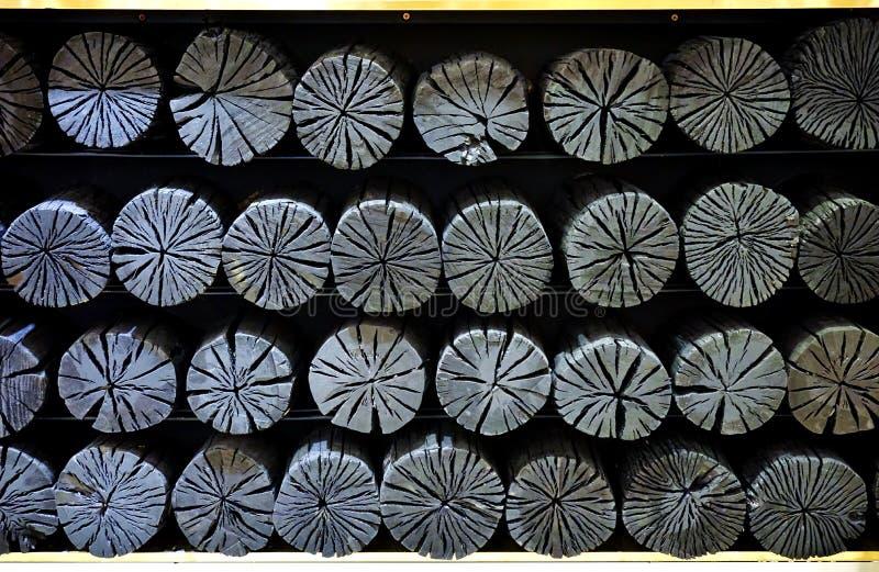 Carvão vegetal para a decoração imagem de stock royalty free