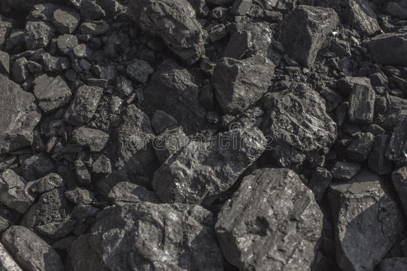 Carvão vegetal preto natural para o fundo imagem de stock
