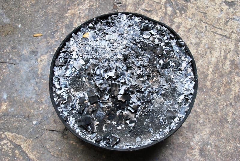 Carvão vegetal queimado imagem de stock royalty free