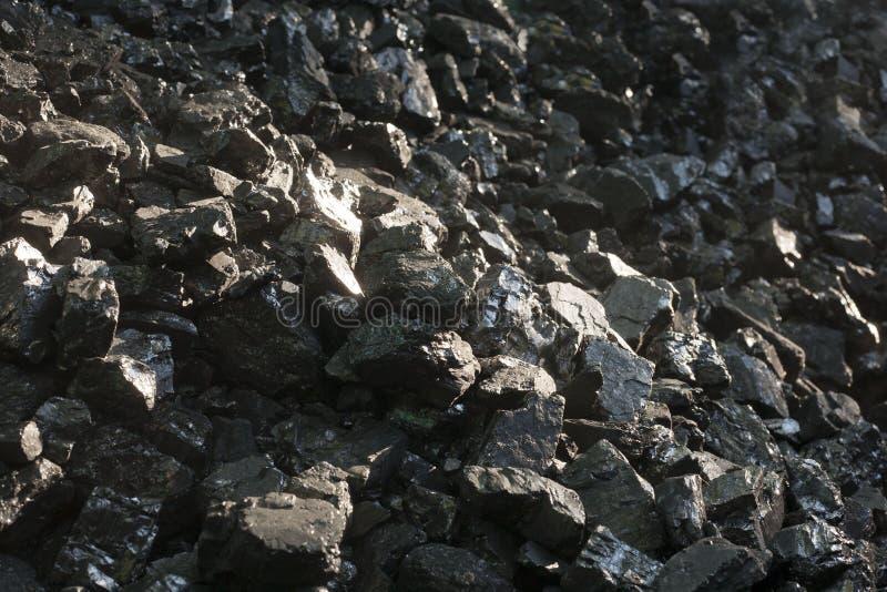 Carvões pretos naturais Para o fundo Carvões industriais fotografia de stock royalty free
