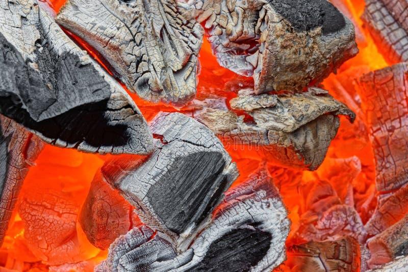 Carvões quentes fotos de stock