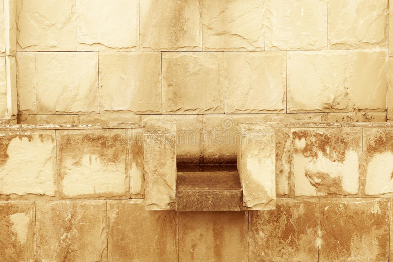 Carve clay wall stock photography