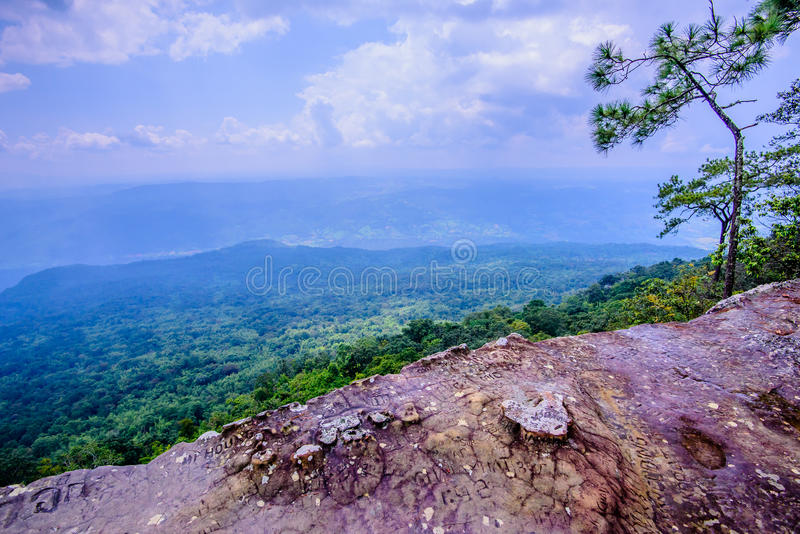 Carve stone Lom Sak cliff royalty free stock images
