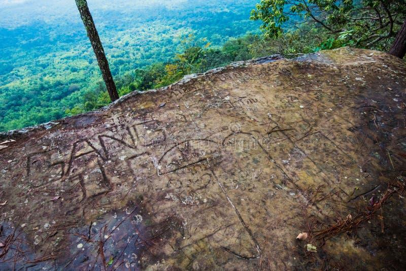 Carve stone Lom Sak cliff royalty free stock photos