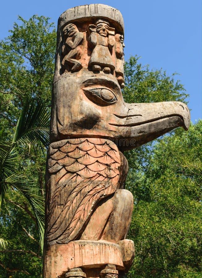 Carve wood. Indigenous royalty free stock photo