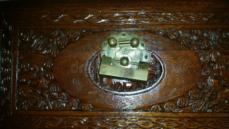 Carved box royalty free stock photo