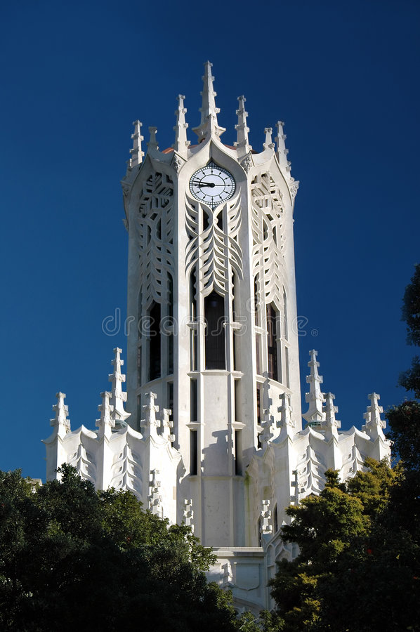 Carved Clock Tower royalty free stock images