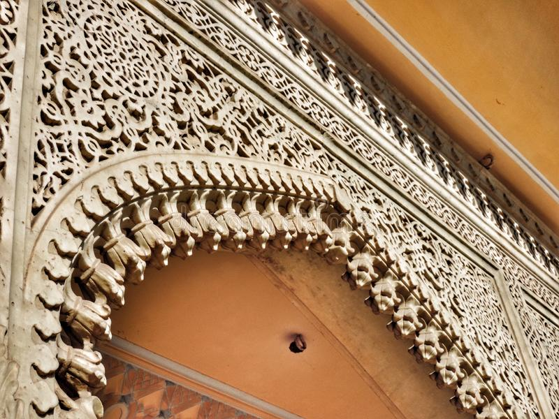 Carved entry gate royalty free stock images