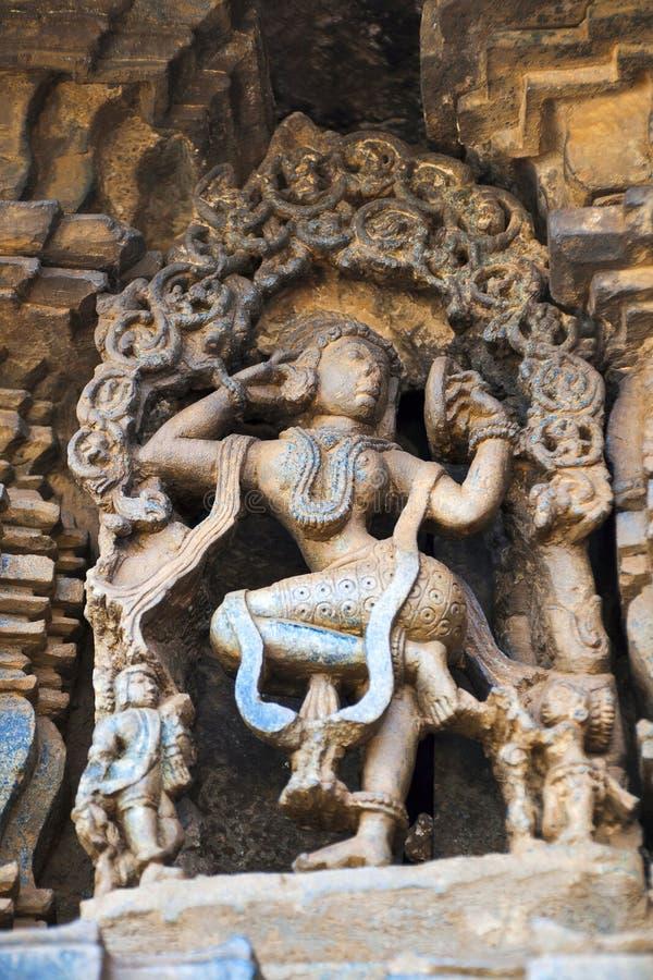 Free Carved Figure Of A Sundari, Beautiful Lady, Looking In The Mirror, Chennakeshava Temple. Belur, Karnataka. Royalty Free Stock Images - 122089059