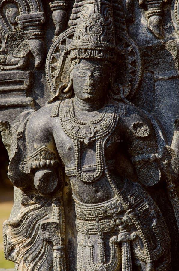 Carved figure, Temple complex, Warangal fort, Warangal, Telangana stock photo