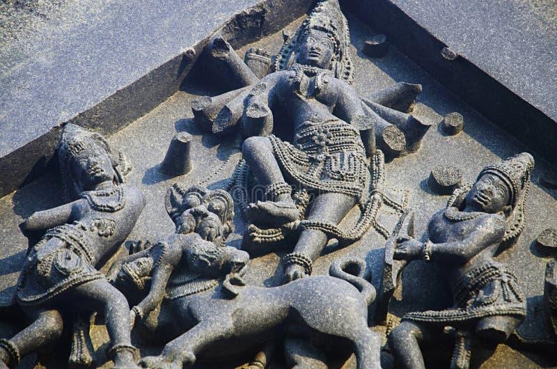 Carved figure, Temple complex, Warangal fort, Warangal, Telangana royalty free stock images