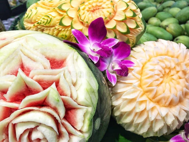 Papaya Cantaloupe Pomelo Macro Stock Photo Image Of