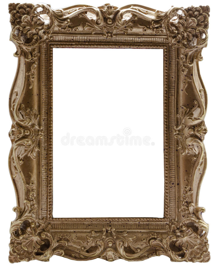 Carved gilded frame. For pictures or photos stock photo