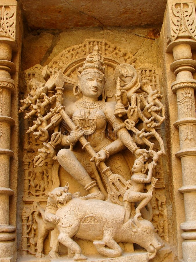 Carved God in Sand Stone royalty free stock images