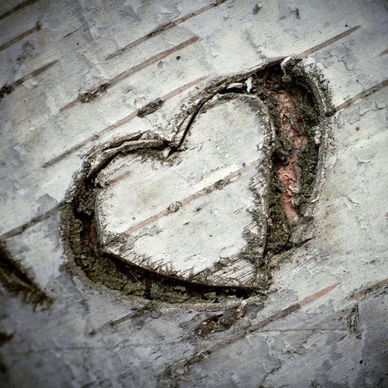 A Carved Heart of Love royalty free stock photography
