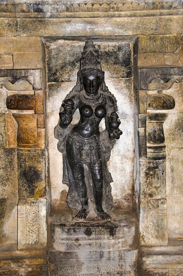 Carved idol on the inner wall of Airavatesvara Temple, Darasuram, near Kumbakonam, Tamil Nadu, India. Carved idol on the inner wall of Airavatesvara Temple stock photos