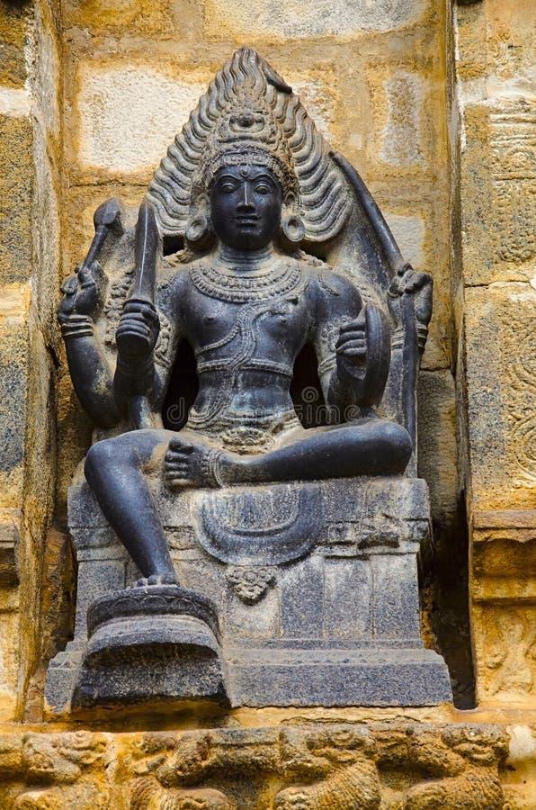 Carved idol on the inner wall of Airavatesvara Temple, Darasuram, near Kumbakonam, Tamil Nadu, India. Carved idol on the inner wall of Airavatesvara Temple royalty free stock image