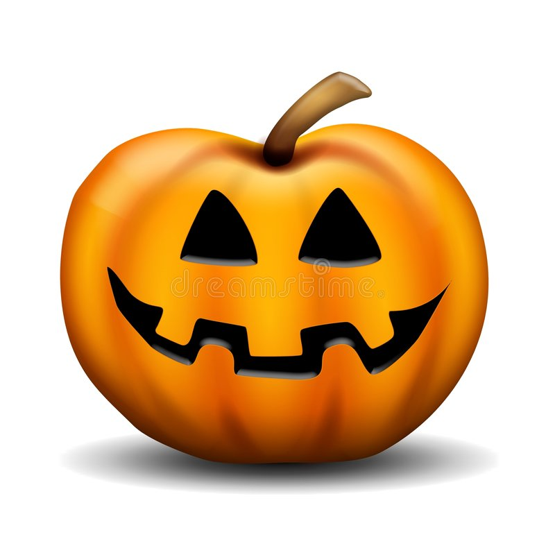 Carved Jackolantern Pumpkin royalty free stock images