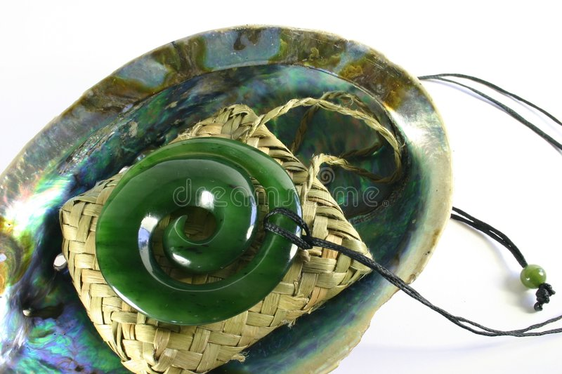 Carved Jade Greenstone Pendant royalty free stock photography