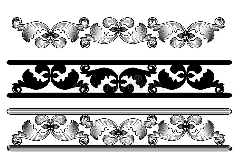 Download Carved pattern stock illustration. Image of isolated - 32044085