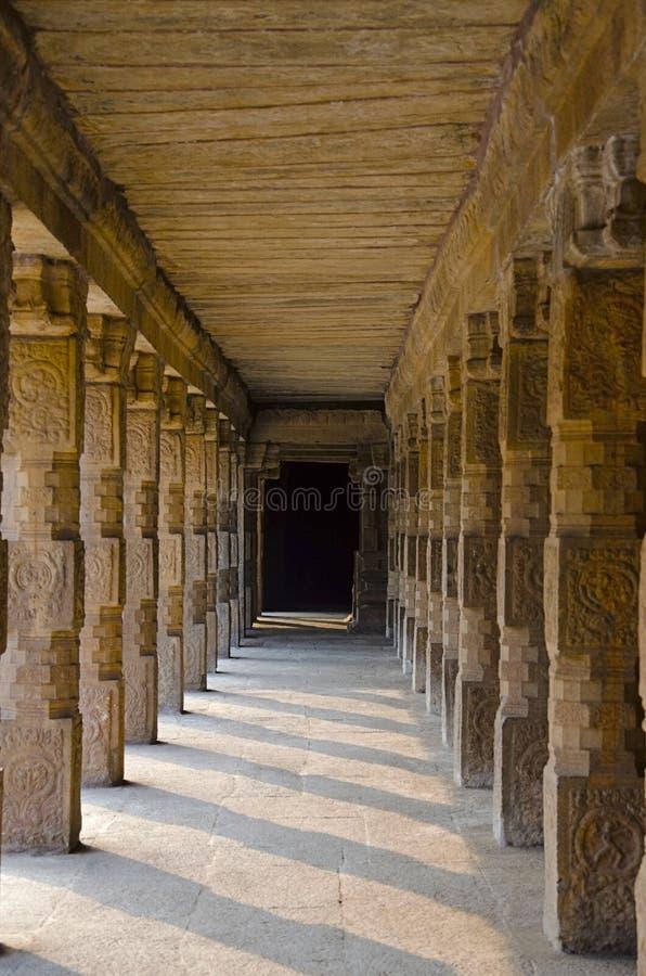 Carved pillars of Airavatesvara Temple, Darasuram, near Kumbakonam, Tamil Nadu, India. Carved pillars of Airavatesvara Temple, Darasuram, near Kumbakonam, Tamil royalty free stock photo