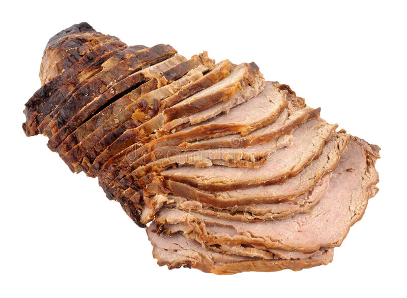 Carved Roast Beef Joint stock images