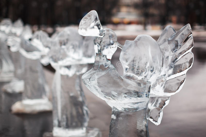 Download Carved Sculpture Of Frozen Angel In Ice Stock Photo - Image of outdoors, city: 27421152