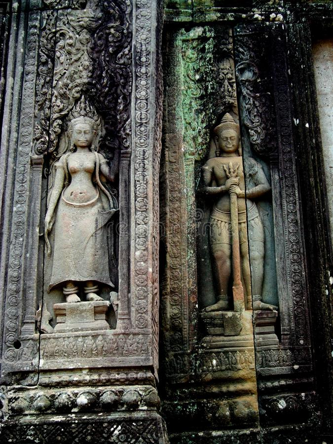 Carved Statues, Angkor Wat