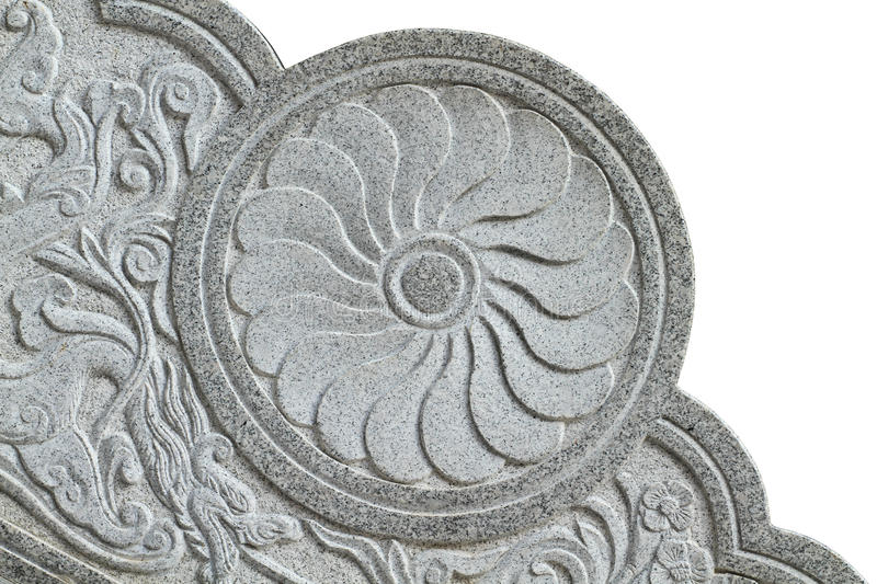 Carved stone detail royalty free stock photo