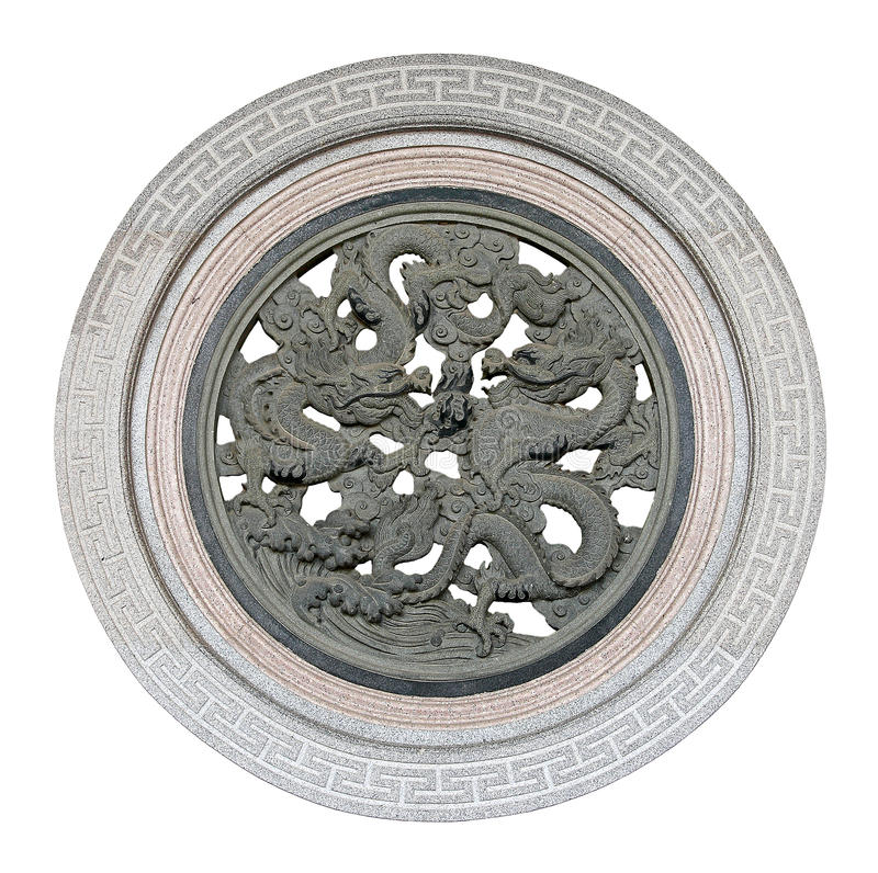 Carved Stone Dragon, Chinese Style Royalty Free Stock Images