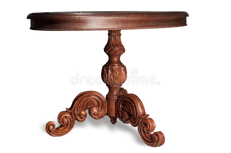 Download Carved table of handwork stock image. Image of pattern - 14073899