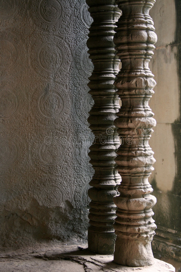 Download Carved temple pillars stock image. Image of structures - 7281953
