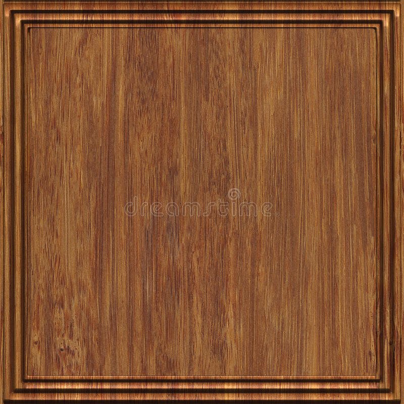 Carved wood panel seamless texture. Carved pattern on wood panel seamless texture royalty free illustration