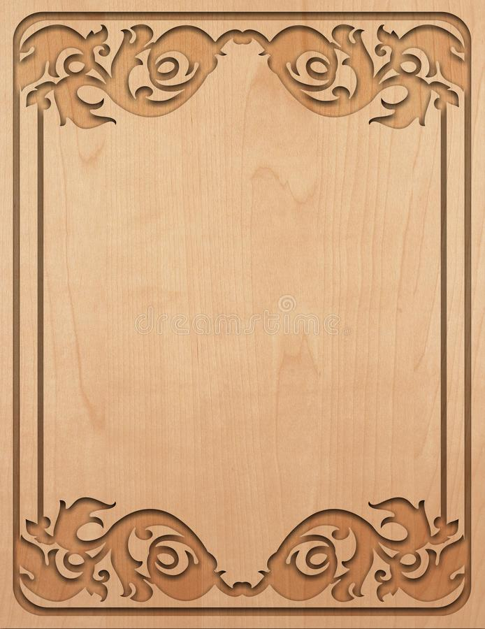 Carved wood texture. royalty free stock photography