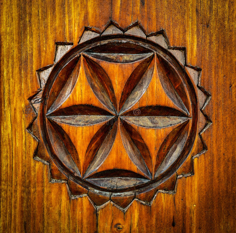 Free Carved Wooden Pattern Royalty Free Stock Photos - 49557298