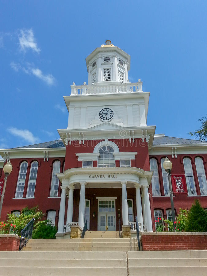 Carver Hall Bloomsburg University Pennsylvania imagenes de archivo