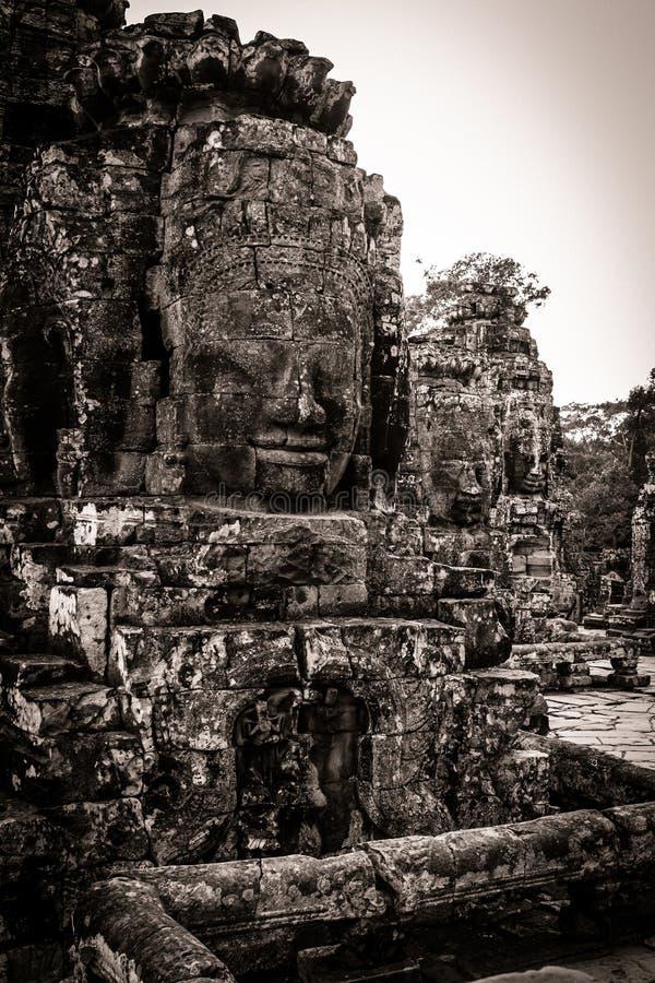Download Carving Of Bayon Temple At Angkor In Cambodia Royalty Free Stock Image - Image: 26527886