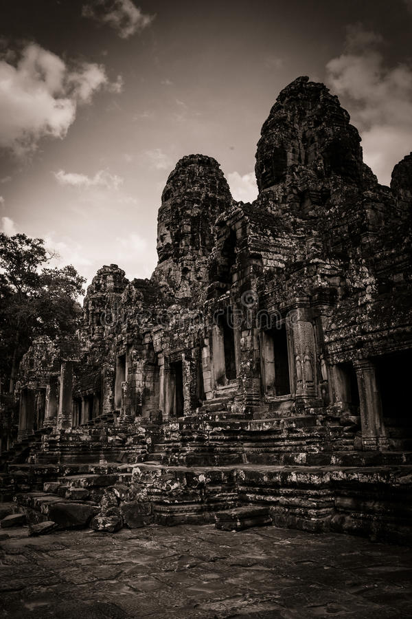 Download Carving Of Bayon Temple At Angkor In Cambodia Stock Image - Image: 26527887