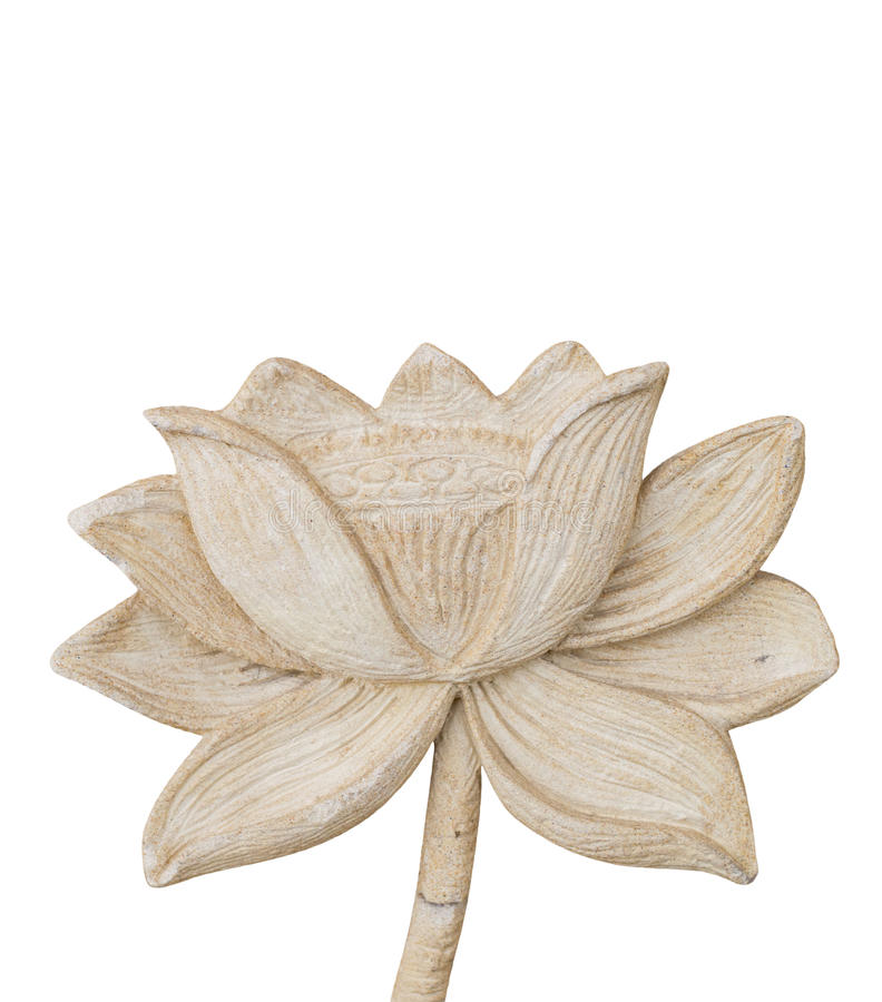 Carving Clay of lotus flower isolate on white background royalty free stock image