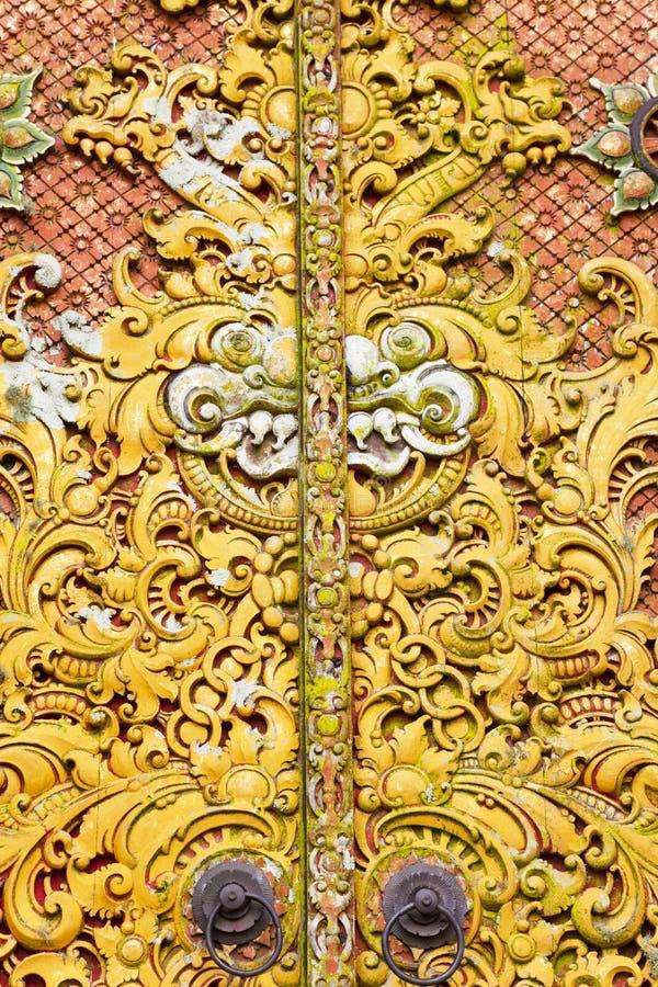 Download Carving On Door At Pura Ulun Danu Batur, Bali Stock Photo - Image: 14287188