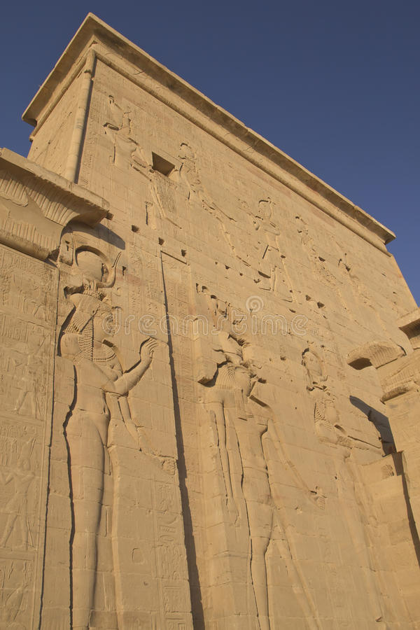 Download Carving Of Egyptian God On Pylon Stock Image - Image: 22961633