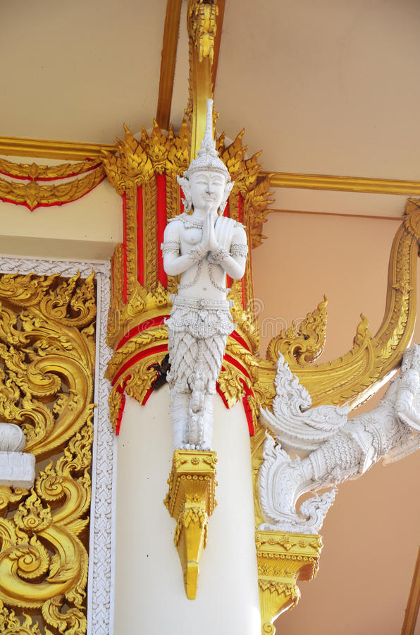 Carving and sculpture guardian thai style at temple Thailand stock image