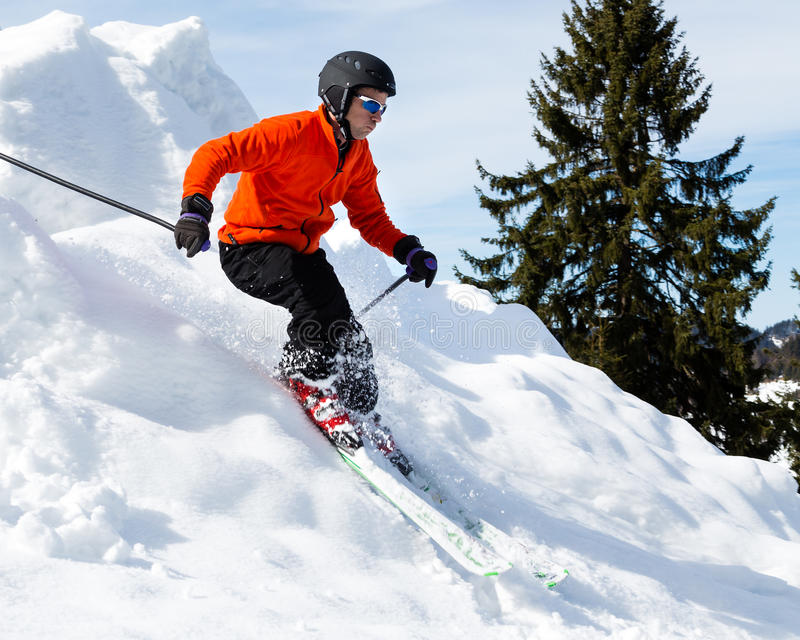 Download Carving skier stock photo. Image of skijump, outdoors - 30955472