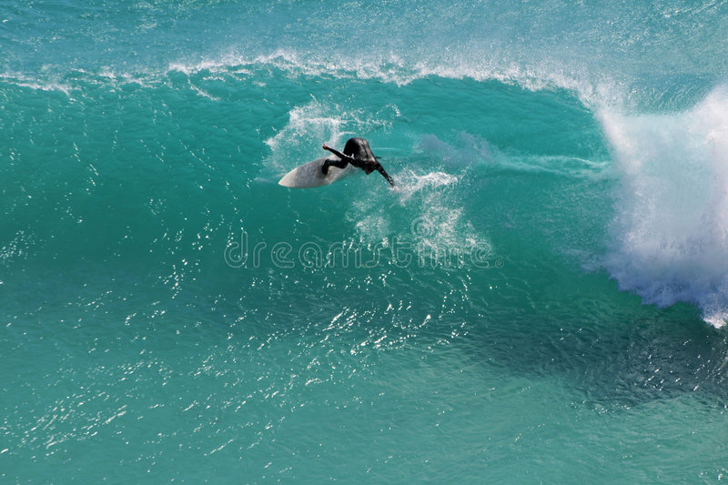 Carving Surfer royalty free stock image