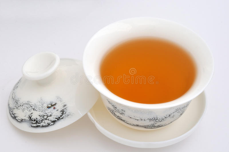 Carving tea cup and tea