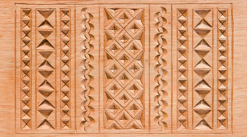 Carving wood, decor. Close-up stock photo