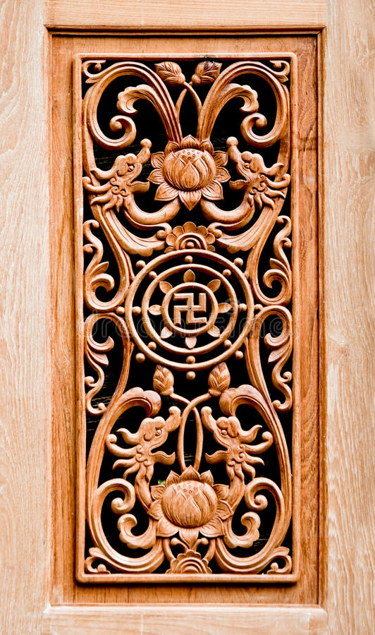 The Carving wood of pattern chinese stock images
