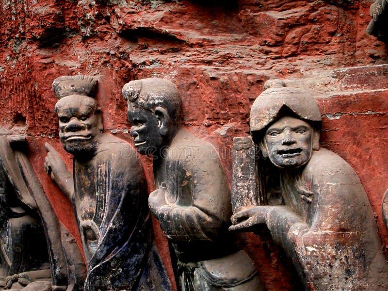 Carvings antigos China de Dazu imagem de stock royalty free