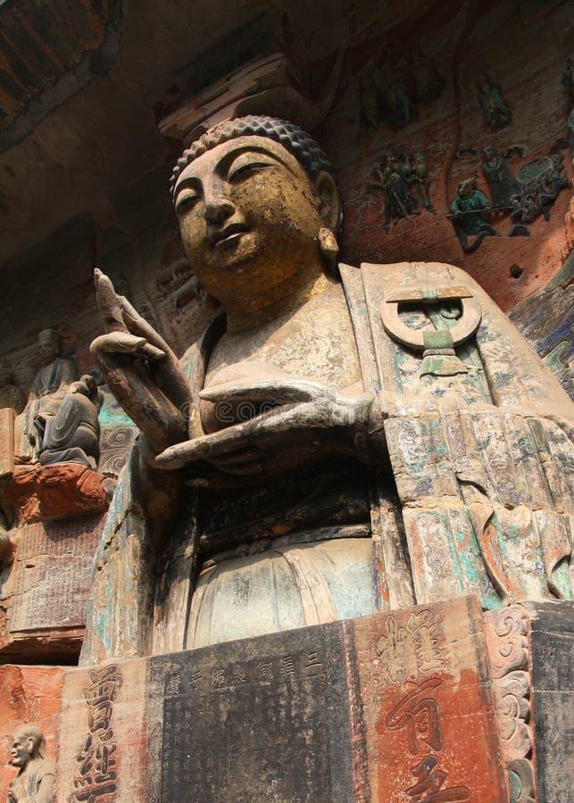 Download Carvings da rocha de Dazu foto de stock. Imagem de eles - 12805172